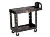 HEAVY-DUTY UTILITY CART WITH FLAT SHELF