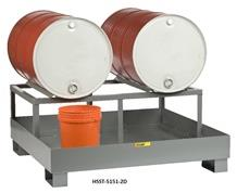 ALL-WELDED SPILL CONTROL PLATFORM WITH DRUM RACK